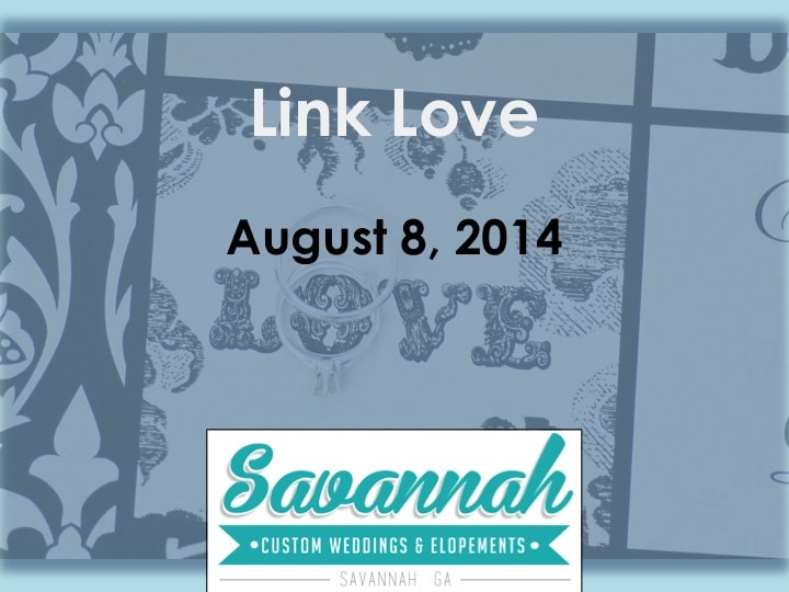 Link Love for Savannah Weddings