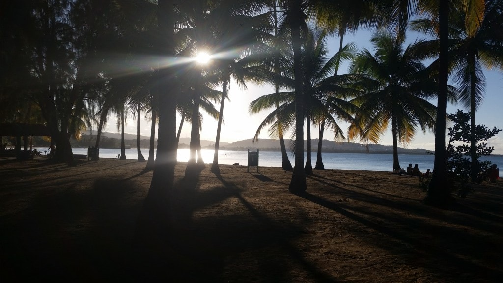 The sunset at Luquillo.