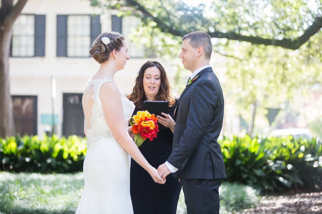 Non-Denominational Wedding in Chatham Square, Savannah, GA