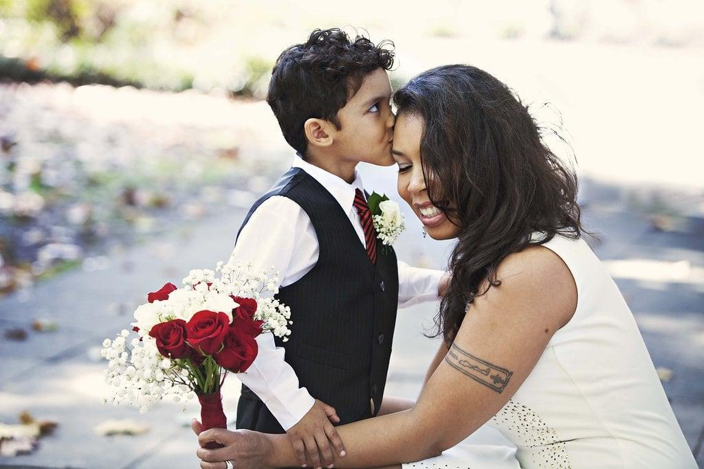 Wedding photography with children in Forsyth Park, GA
