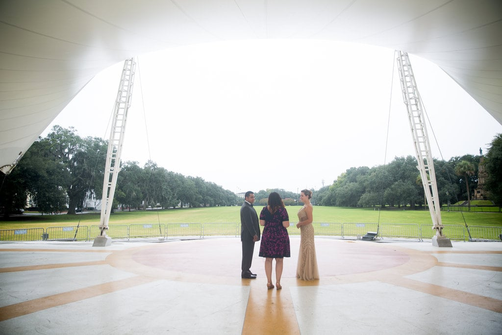 Forsyth Park bandshell wedding