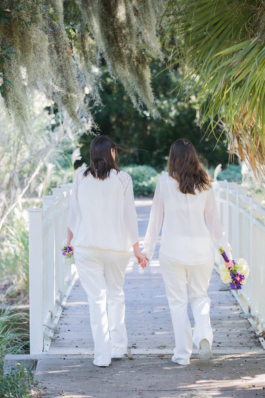 lesbian wedding in Savannah