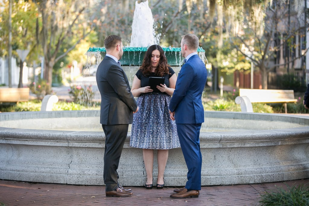 Wedding in Orleans Square, Savannah, GA