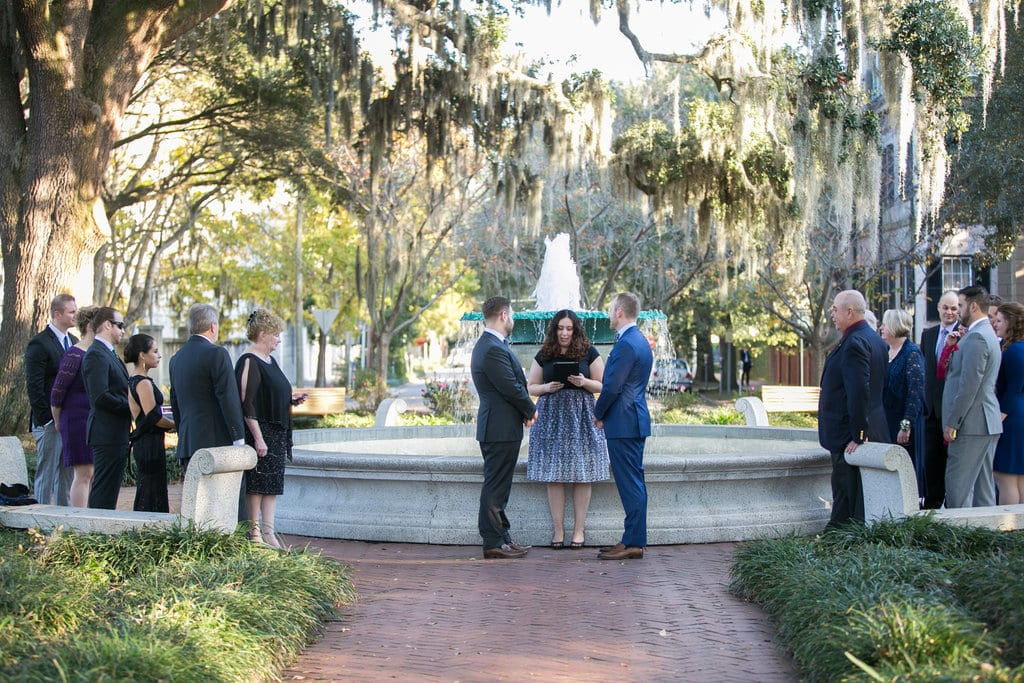Same-Sex Wedding in Orleans Square in Savannah, GA