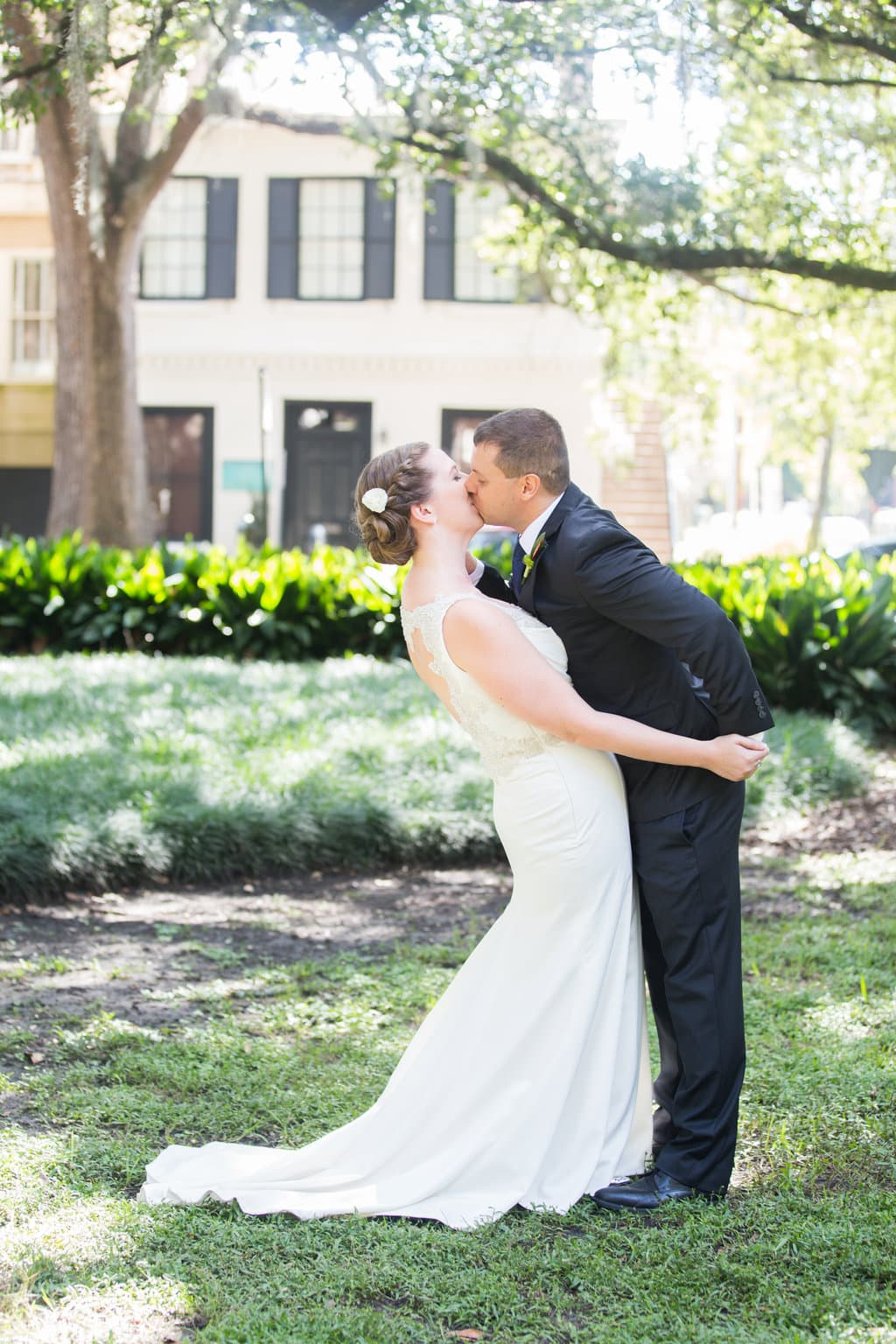 First kiss in Savannah, GA