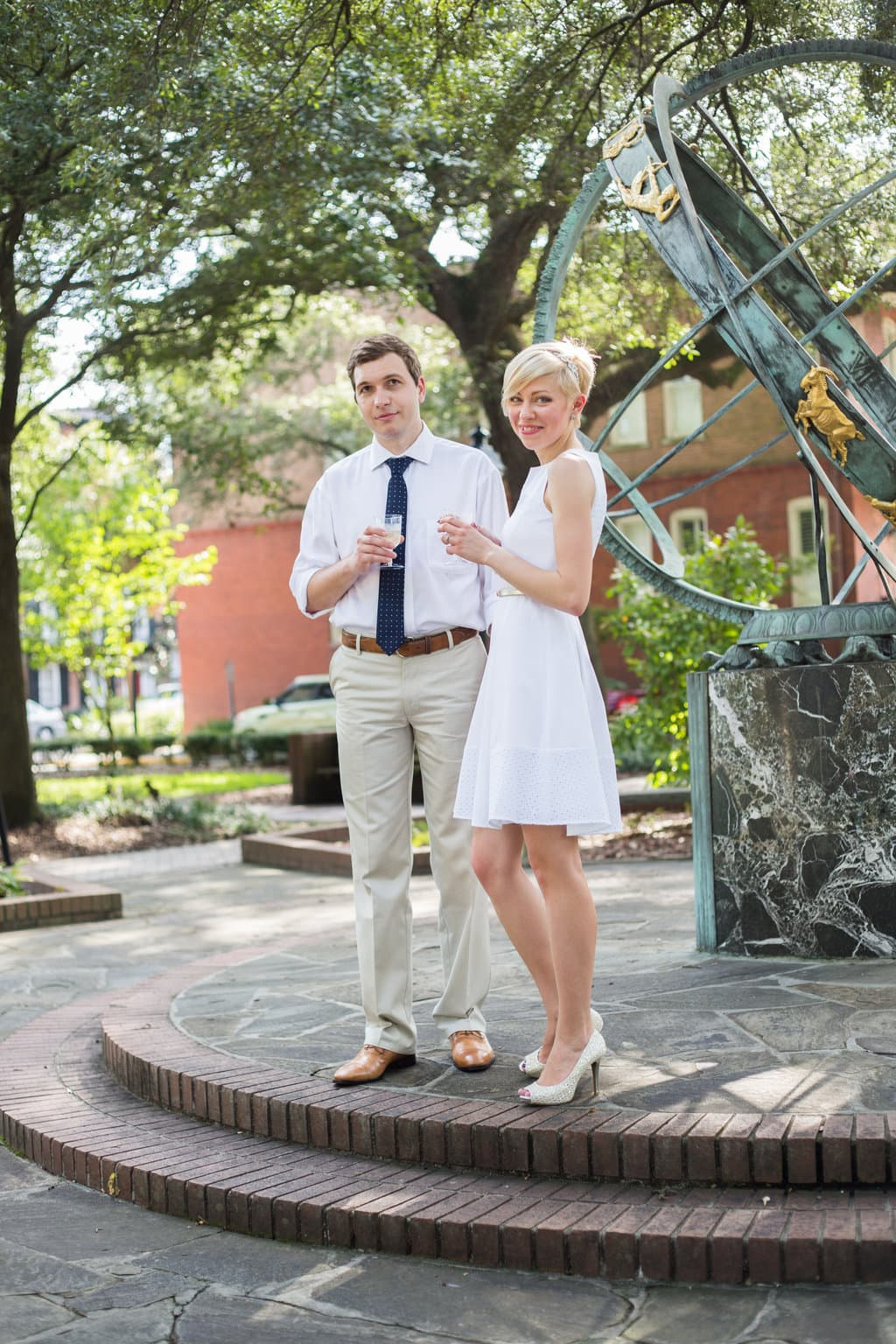 Wedding Pictures in Troup Square in Savannah, GA
