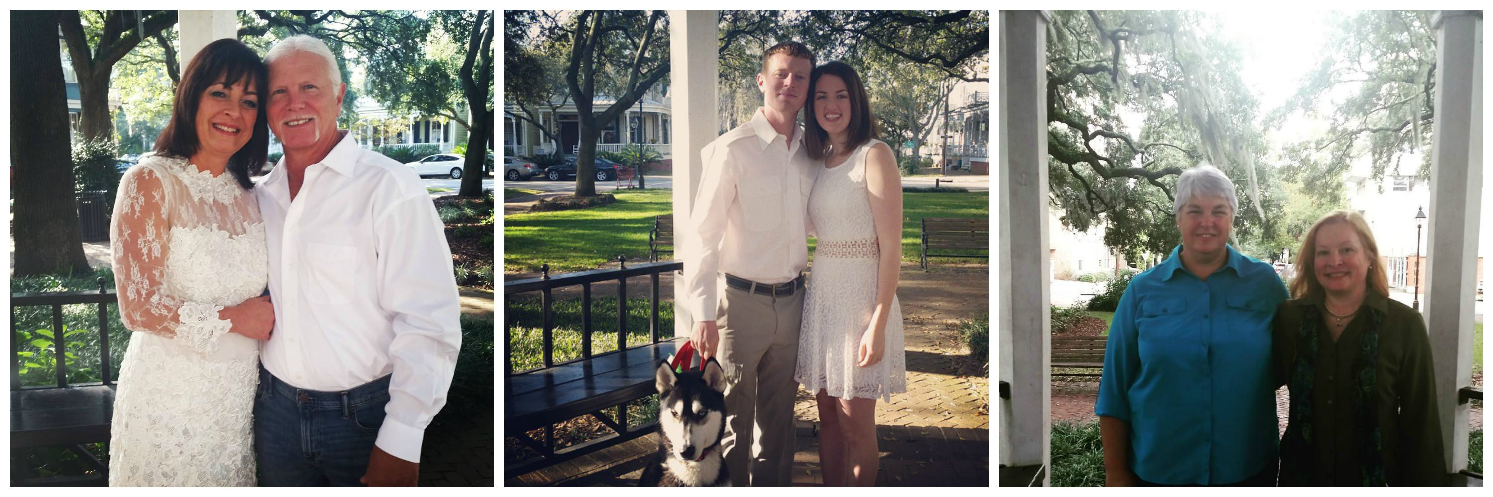 Elopements in Whitfield Square in Savannah GA