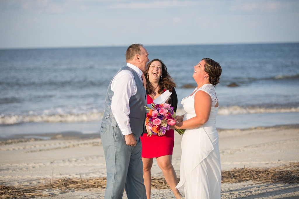 Savannah beach elopement