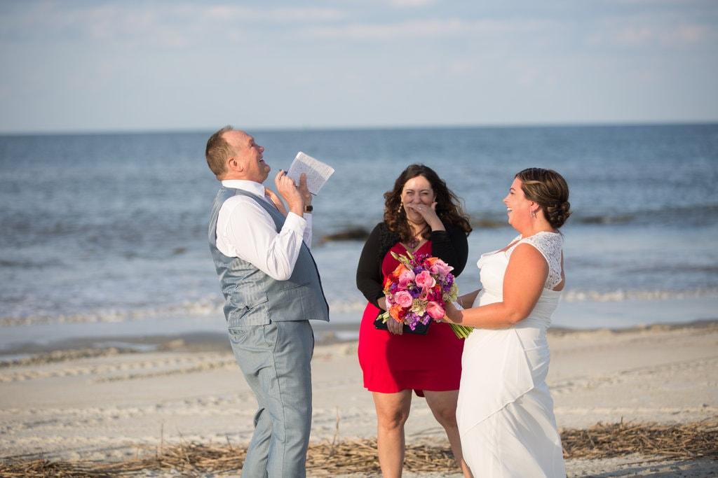 North Beach Tybee Wedding