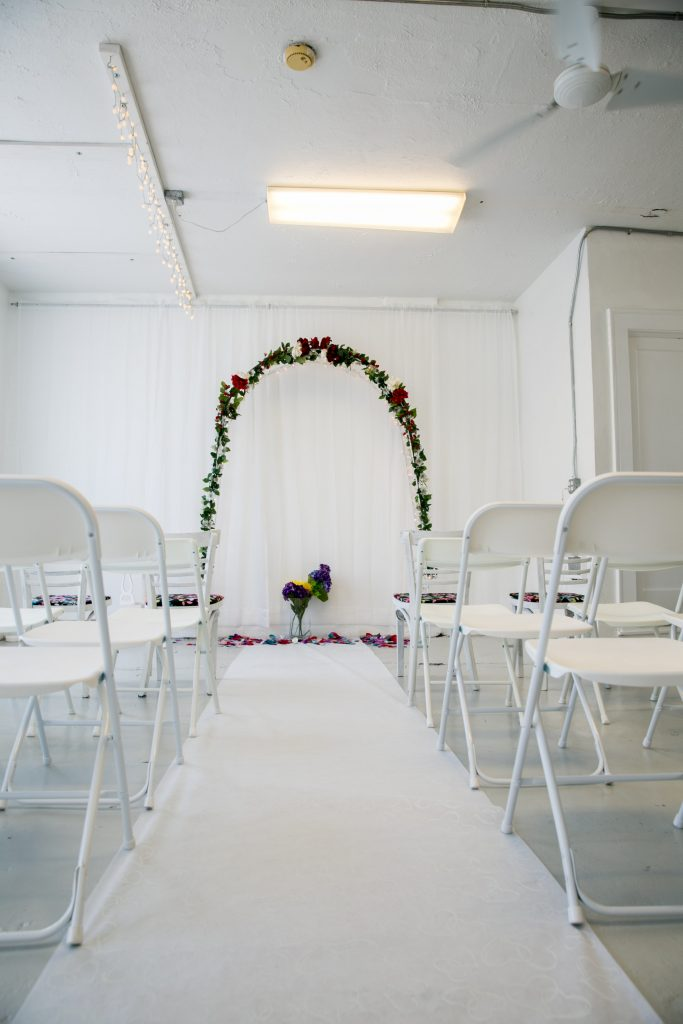 Lighted Wedding Arch in Savannah