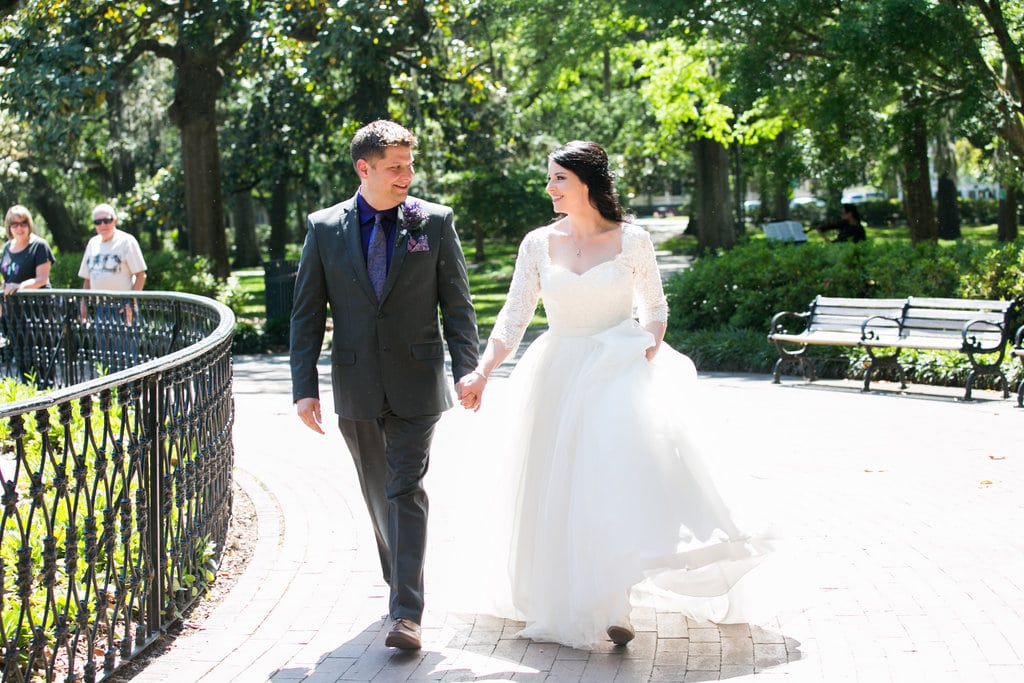 Couple's first look at Forsyth Park