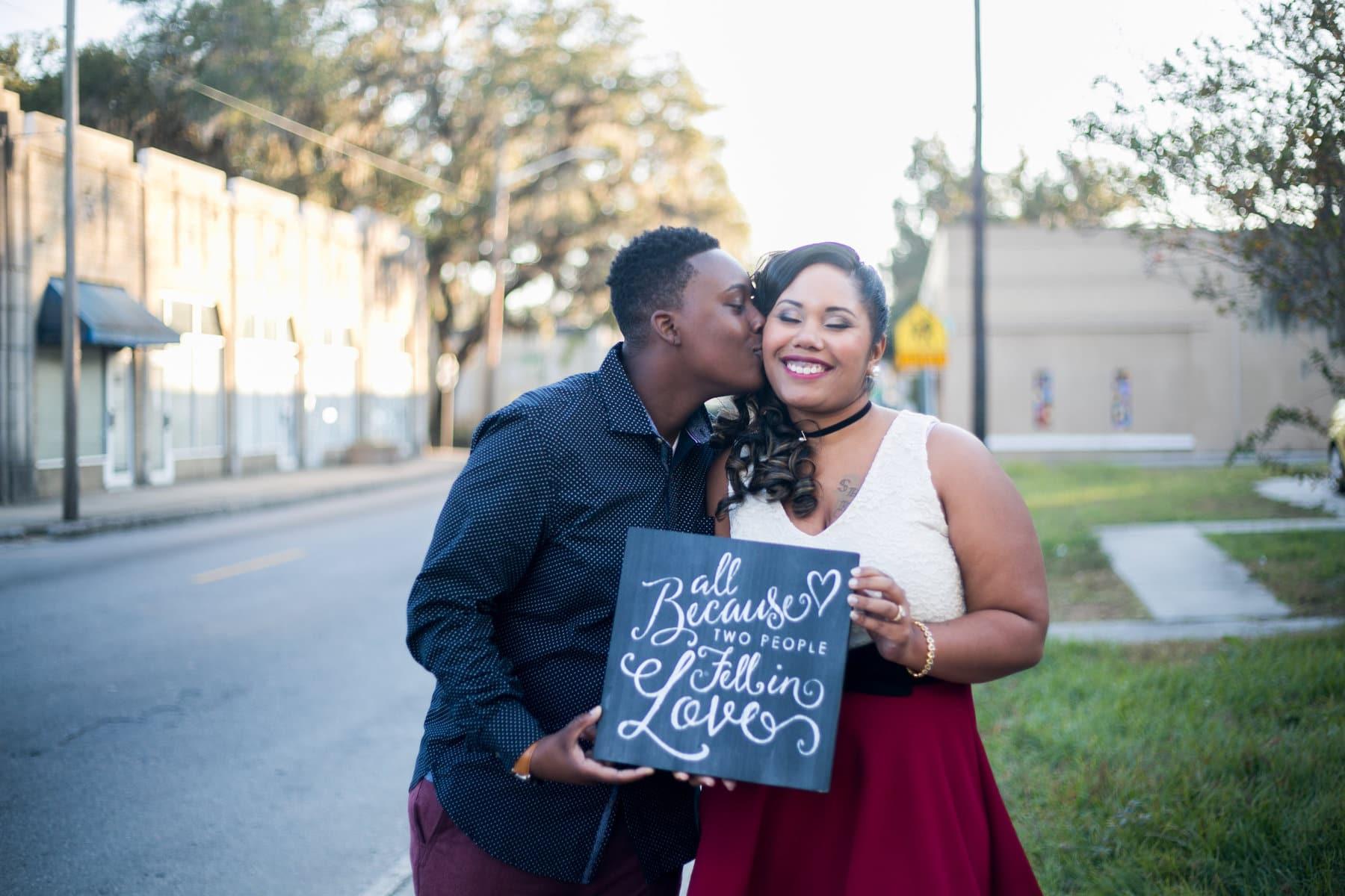 Kiss at the Savannah Cozy Chapel