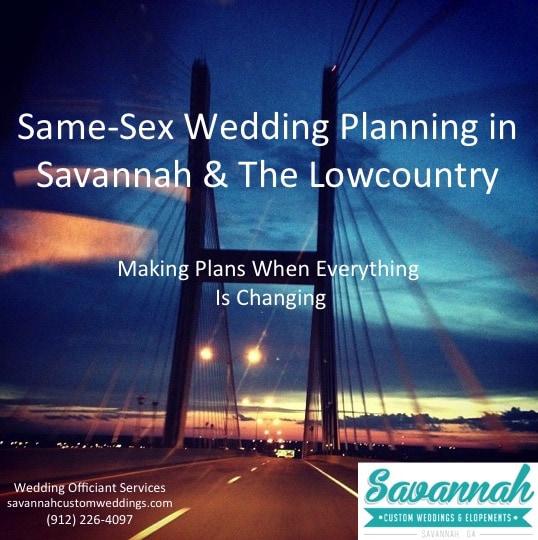 Same-Sex Wedding Planning in Savannah, The Lowcountry & Georgia