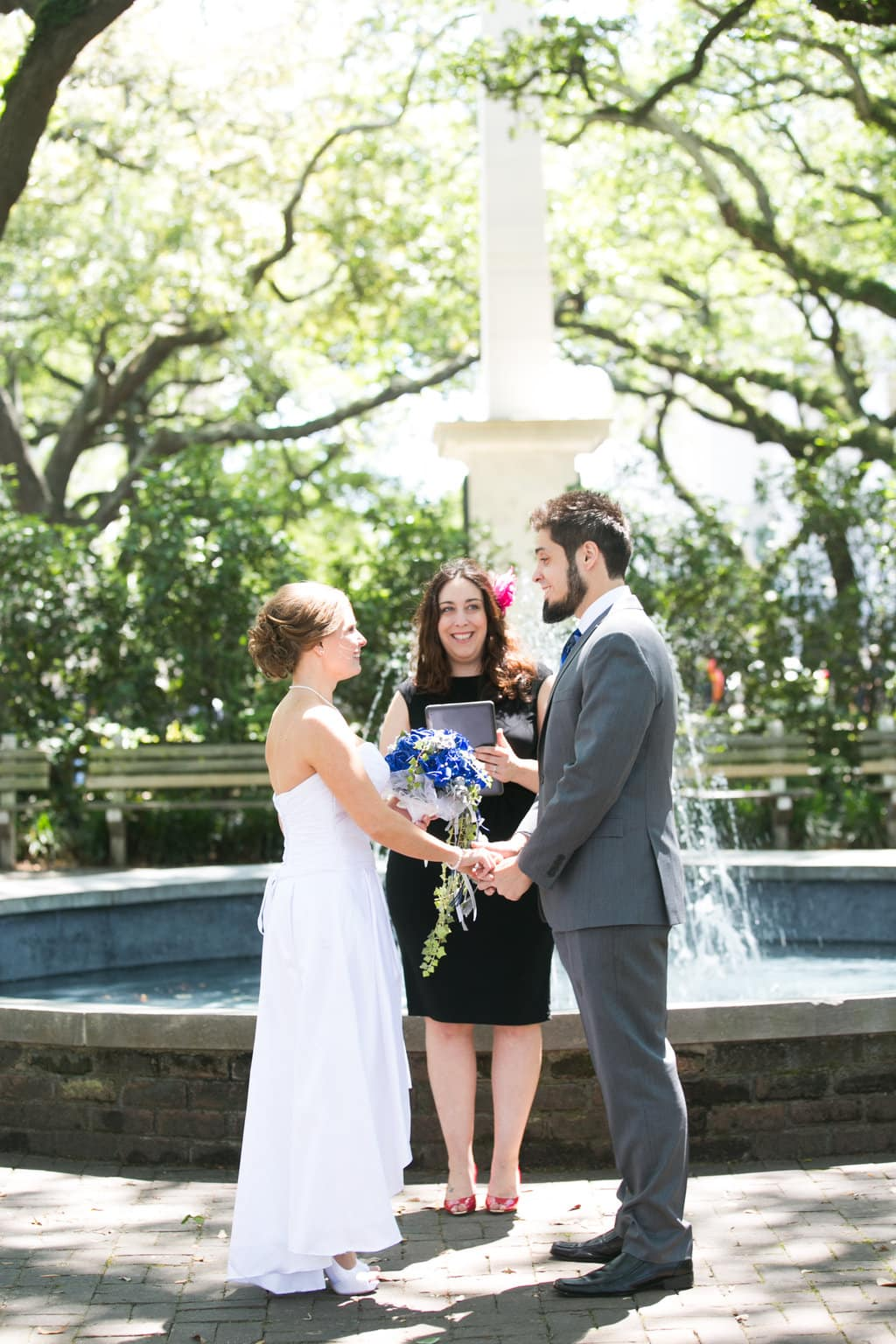 Johnson Square ceremony in Savannah, GA