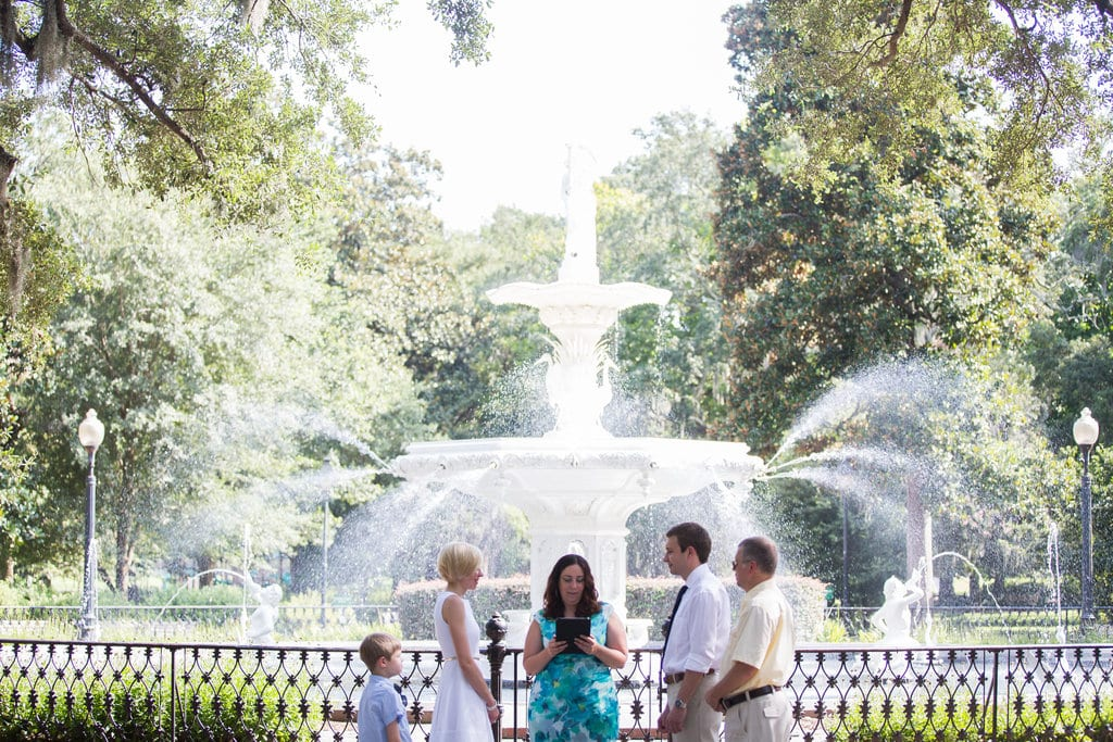 Forsyth Park family wedding