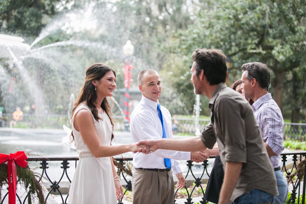 Forsyth Park wedding, Savannah GA