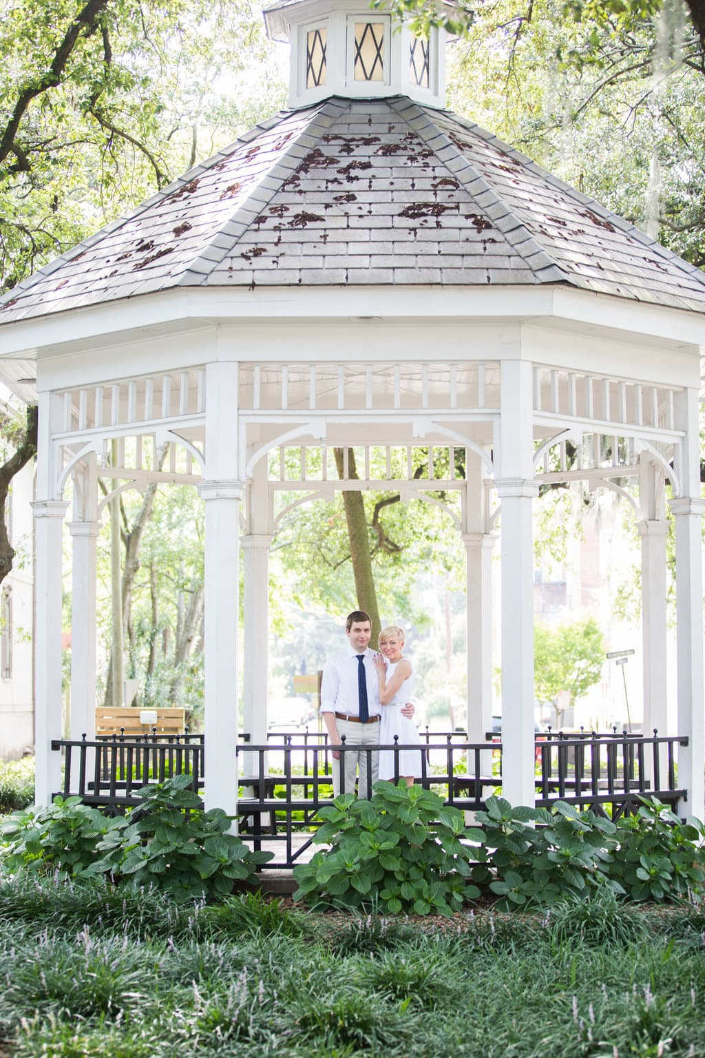 Wedding Photography in Whitfield Square in Savannah