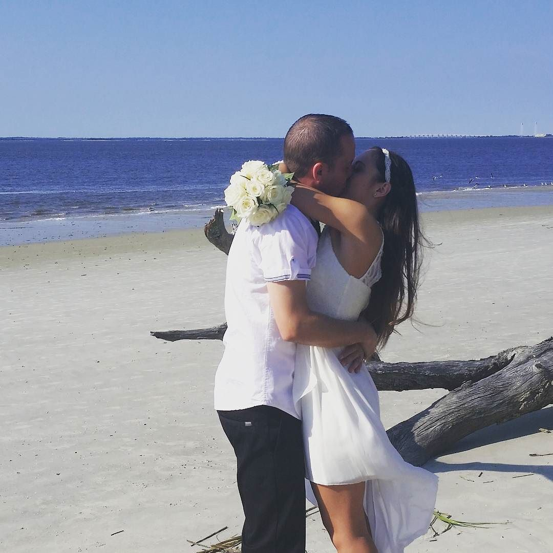 Driftwood Beach Elopement in Jekyll Island
