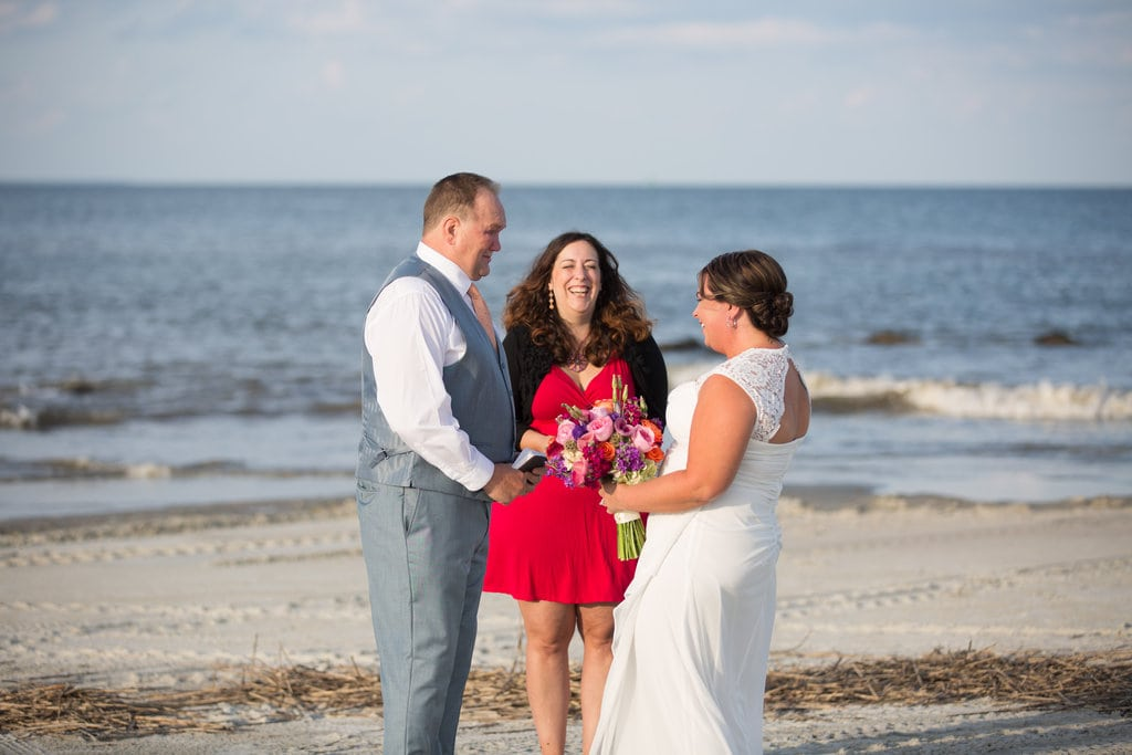 beach wedding in Savannah