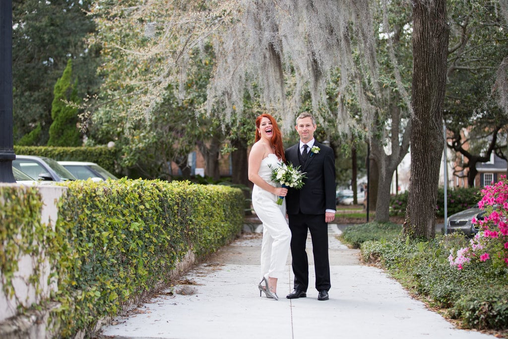 winter wedding in savannah