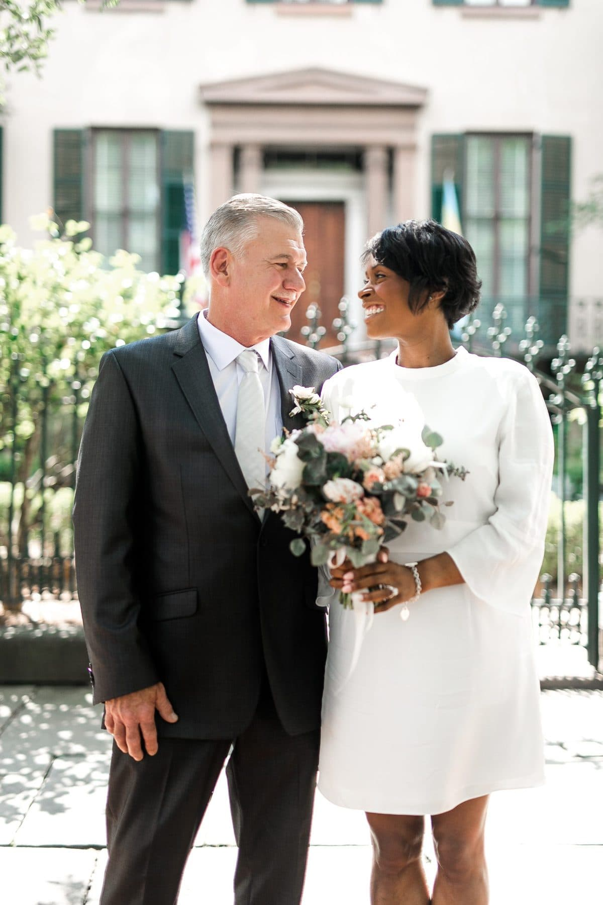 young at heart elopement in savannah