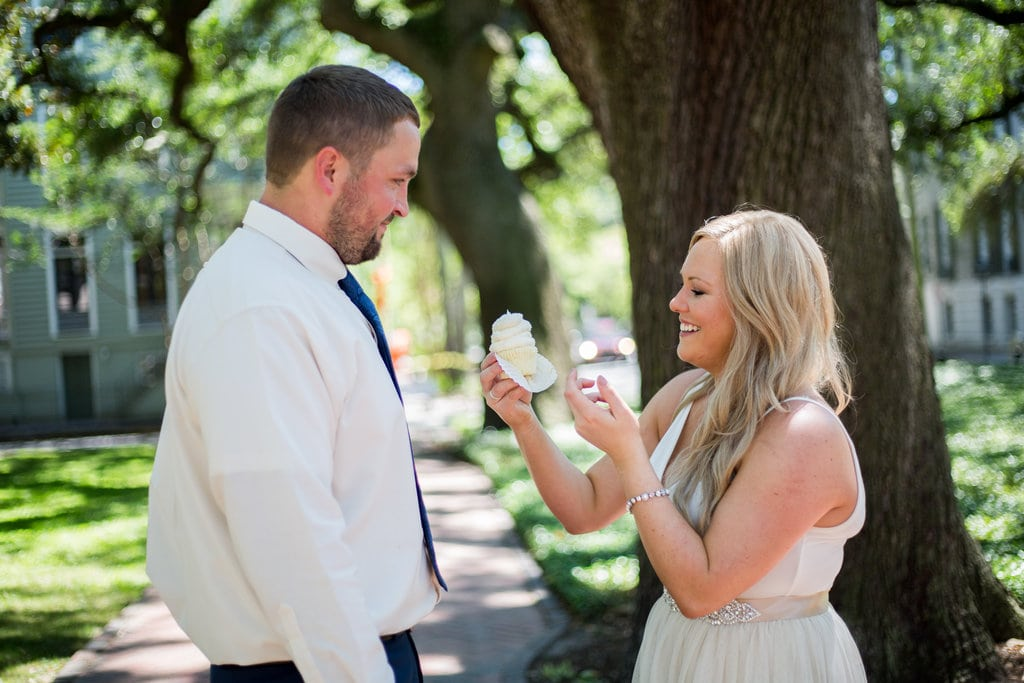 Savannah Elopement in Pulaski Square
