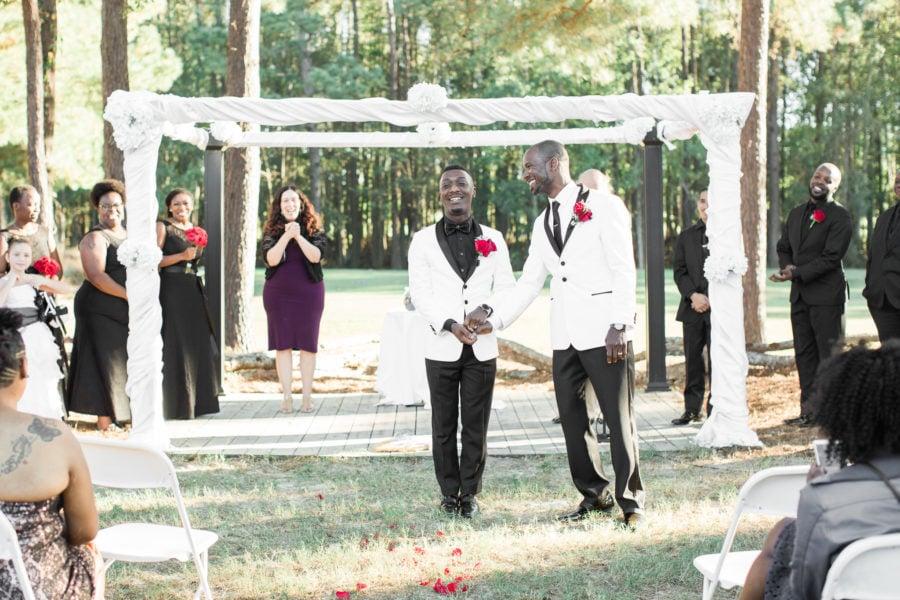 jumping the broom at a Savannah Wedding