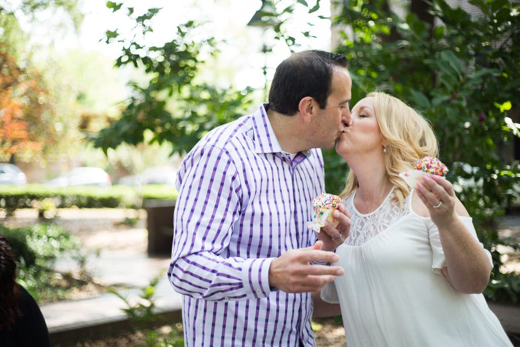 Wedding kiss in Savannah