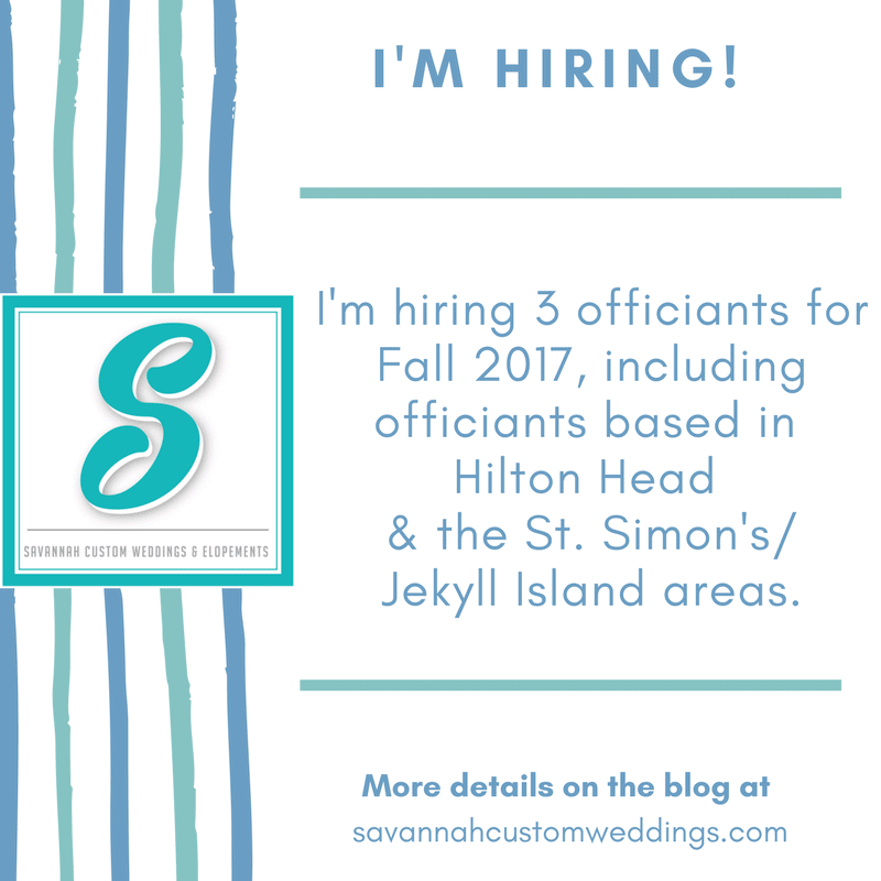 Hiring Savannah Wedding Officiant