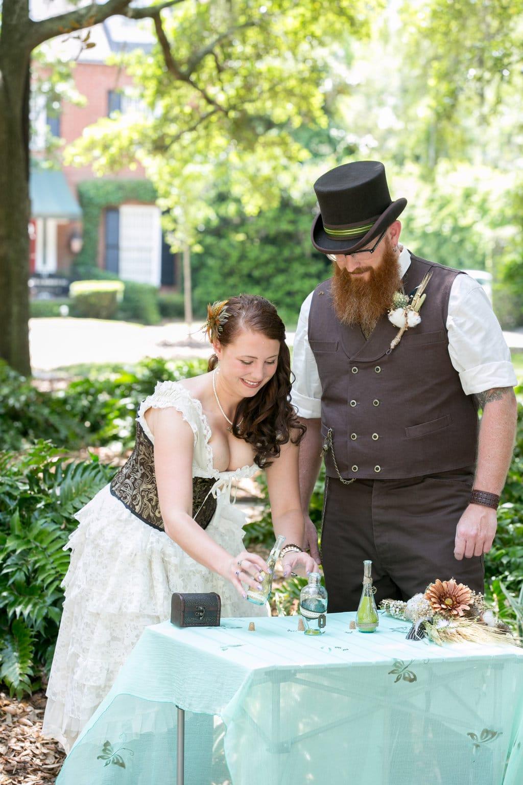 steampunk wedding in savannah