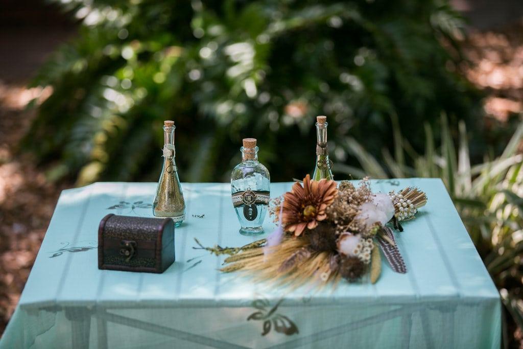 steampunk wedding sand ceremony