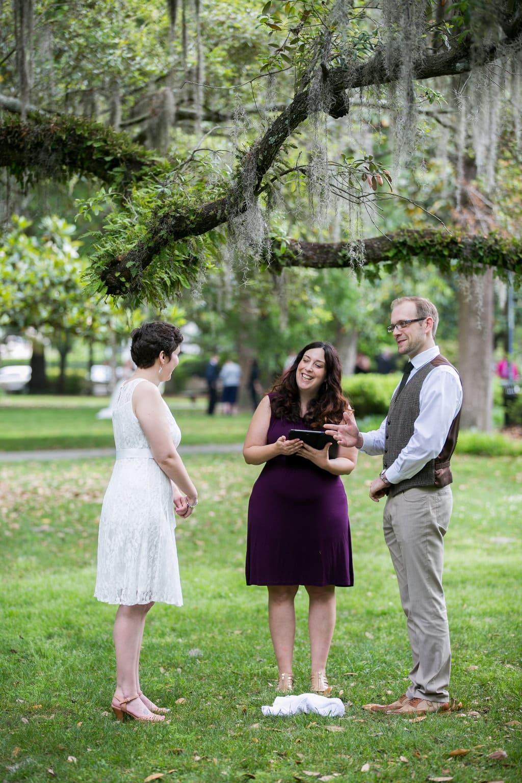 breaking the glass wedding ritual in Savannah