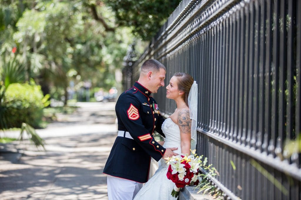 Savannah military wedding