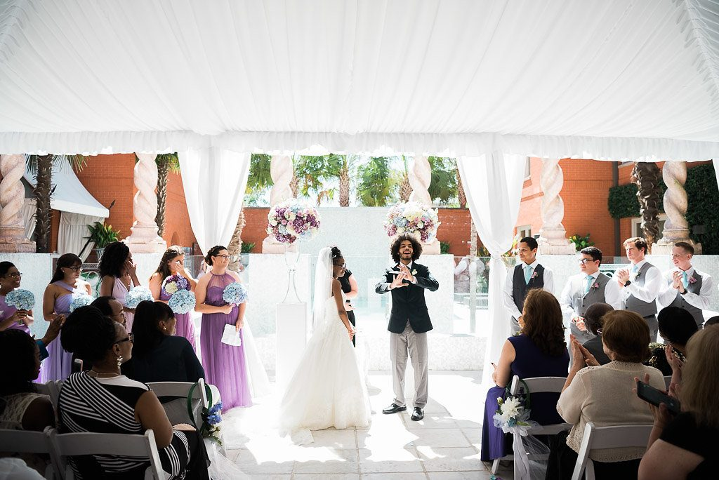 wedding ceremony at The mansion at Forsyth Park