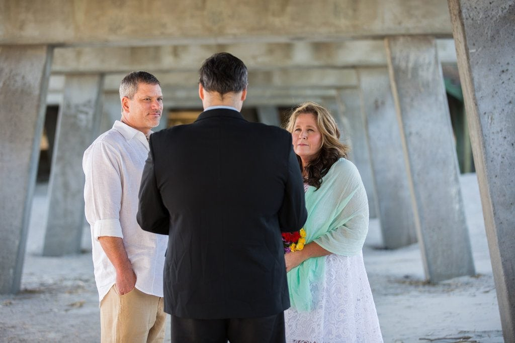 Tybee Island Pier wedding ceremony