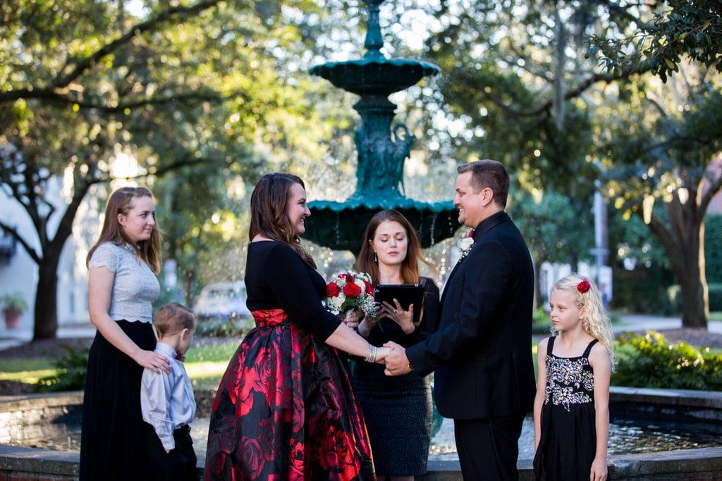 wedding ceremony in Lafayette Square