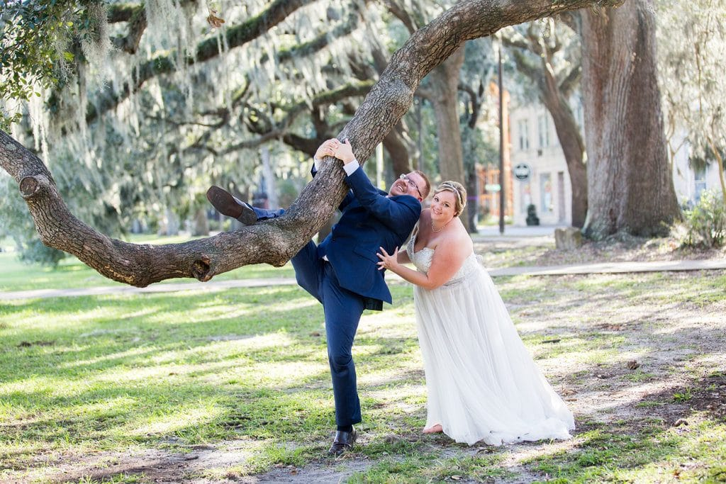 Forsyth Park Savannah wedding photo