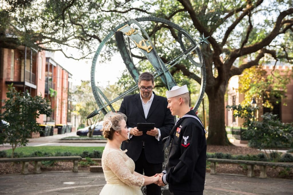military wedding in Savannah