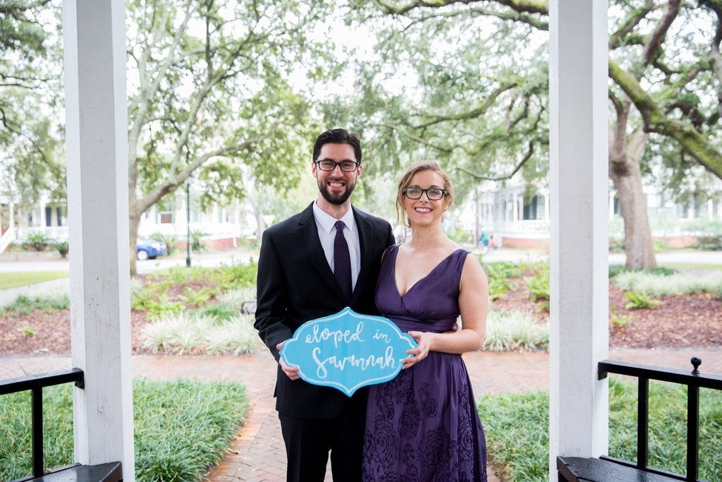 eloped in Savannah