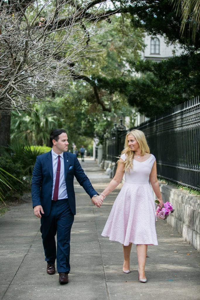 Pink elopement dress