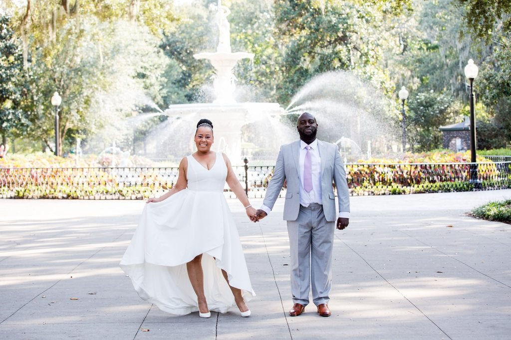 forsyth park wedding photo