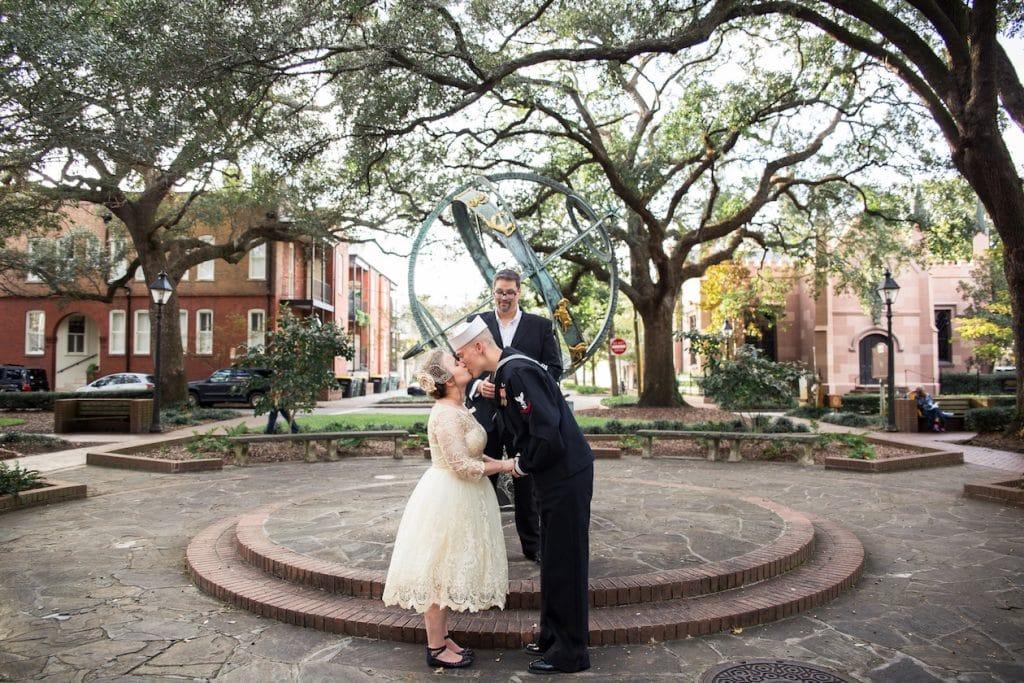 vintage military wedding