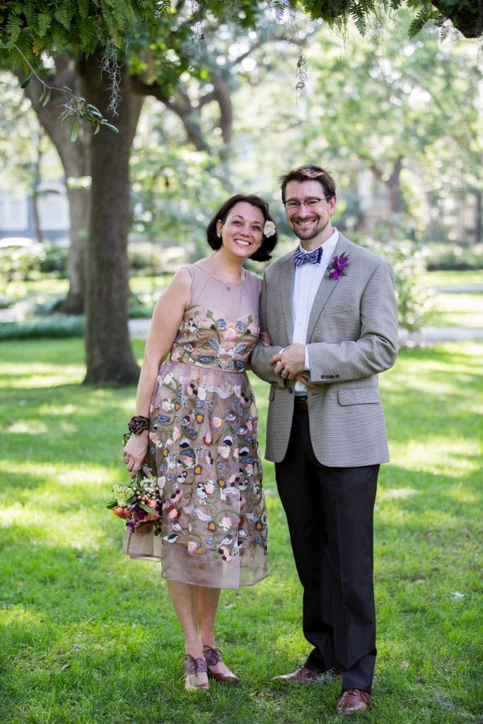 colorful elopement dress