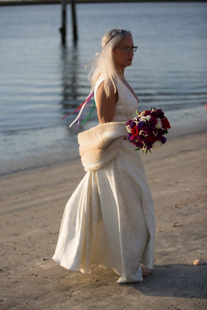 vintage bridal dress beach wedding