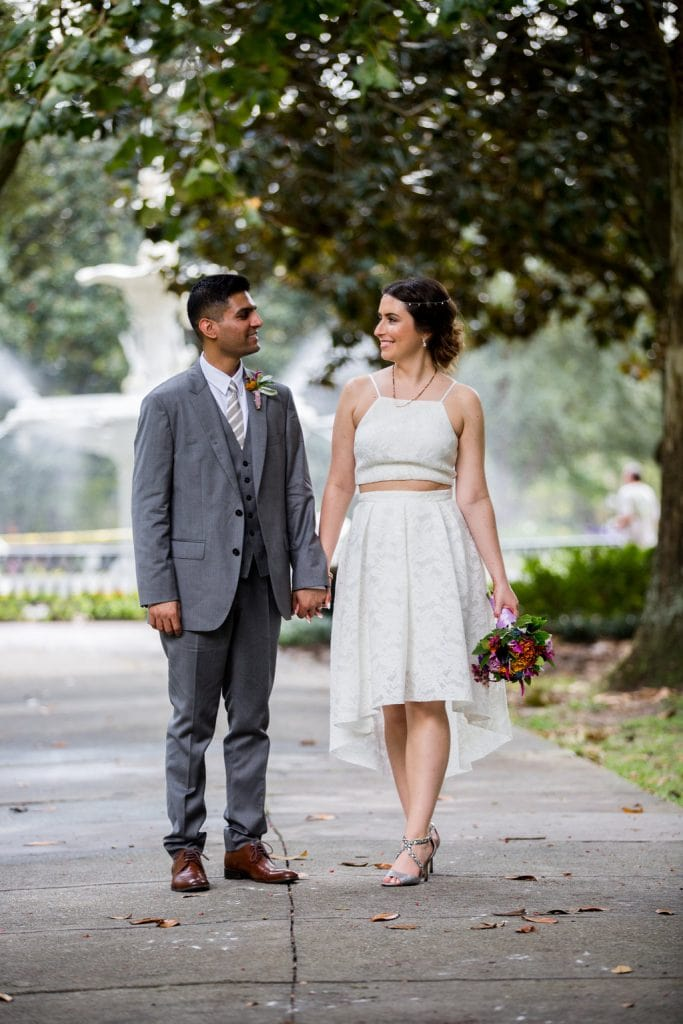 two piece elopement dress.