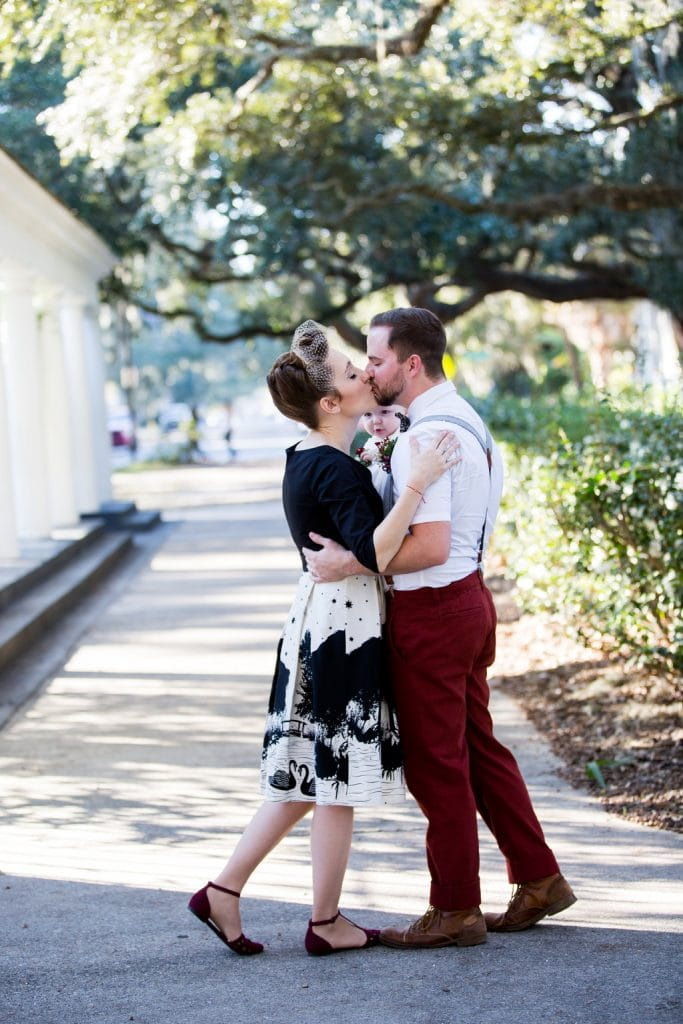 family vow renewal in Savannah