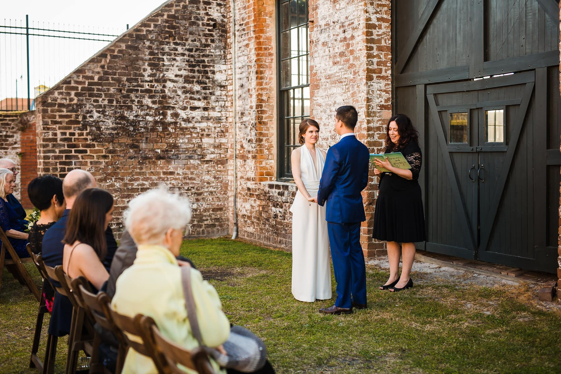 wedding at georgia railroad museum