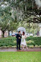 Beautiful Rainy Elopements In Savannah