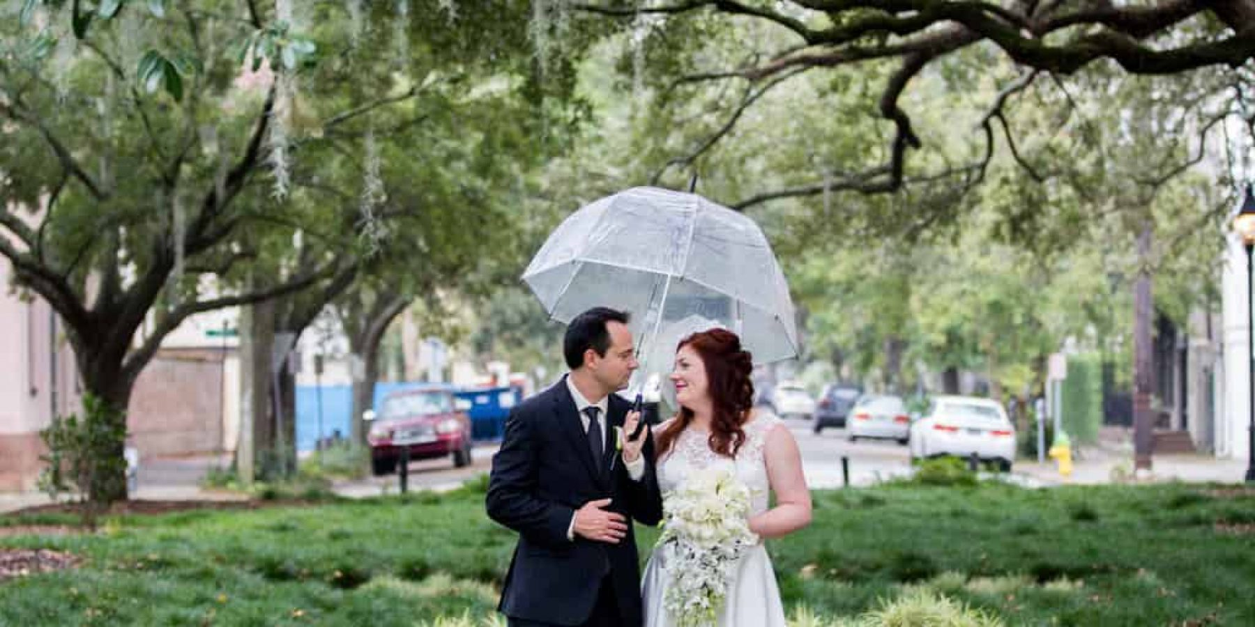 Beautiful Rainy Elopements In Savannah