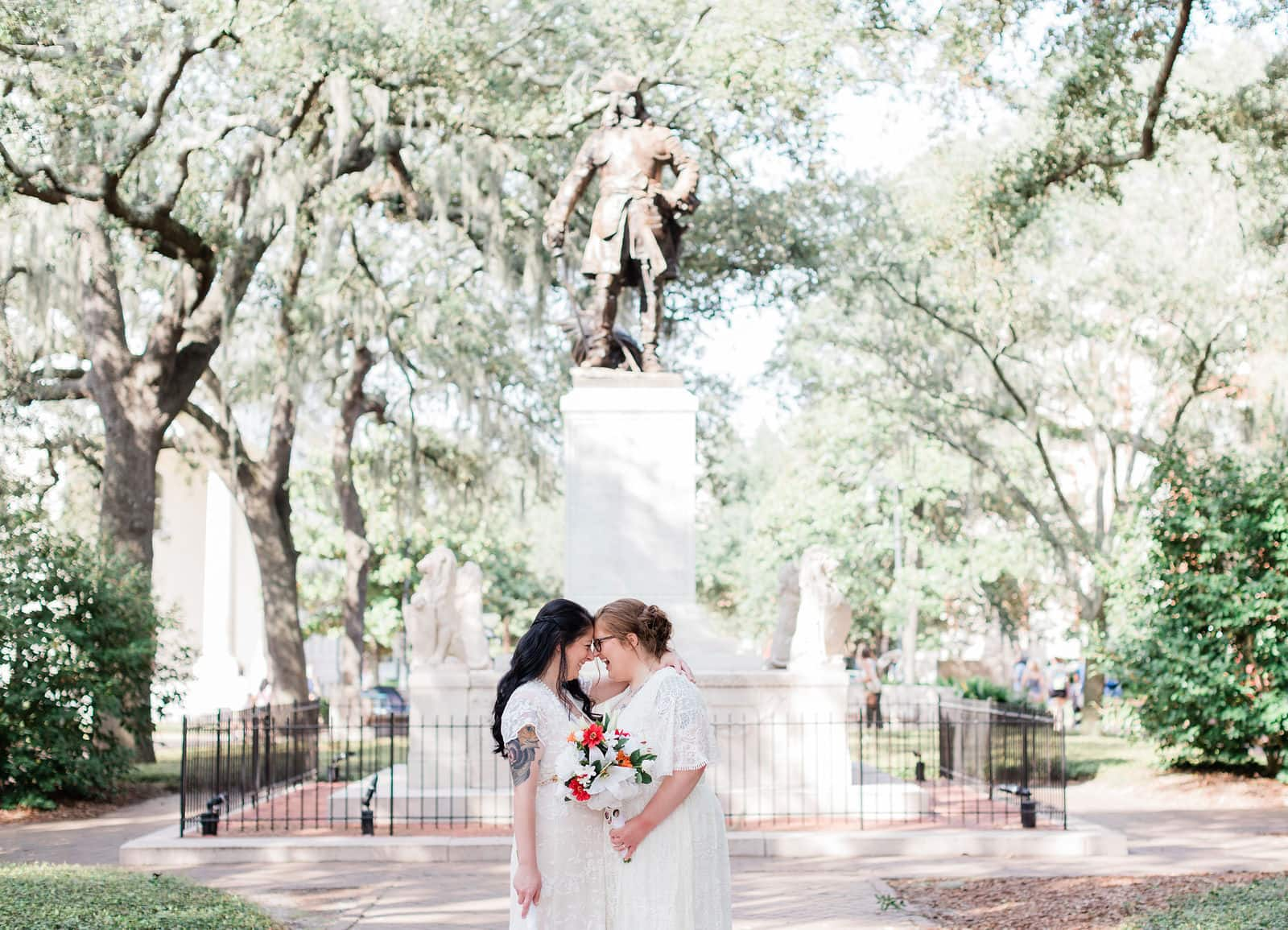 forrest gump chippewa square elopement wedding